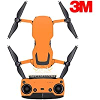 SopiGuard 3M Matte Orange Precision Edge-to-Edge Coverage Vinyl Sticker Skin Controller 3 x Battery Wraps for DJI Mavic Air
