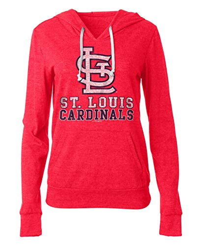New Era St. Louis Cardinals Women's Playoff Tri-Blend Pullover Hoodie X-Large - Louis Womens Sweatshirt