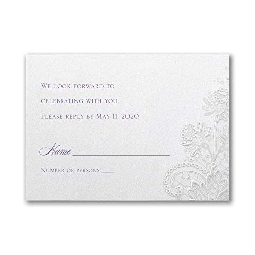 1150pk Lacy Shimmer - Response Card and Envelope-RSVP Cards