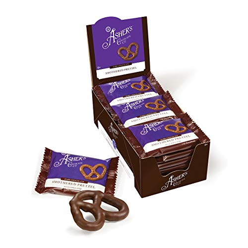 - Asher's Chocolate Company, Delicious Kosher Chocolate Covered Pretzels, Made from the Finest Chocolate, Small Batches, Family Owned Since 1892 (18 count, Dark Chocolate)