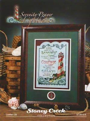 (Serenity Prayer Lighthouse Cross Stitch Chart and Free Embellishment)