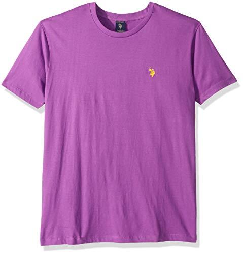 U.S. Polo Assn. Men's Crew Neck Small Pony T-Shirt, Hidden Orchid, S -