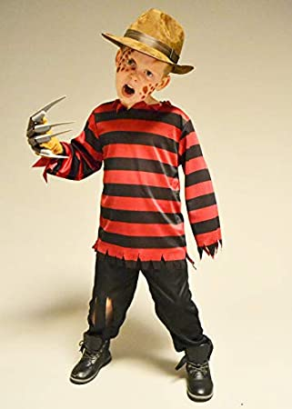 Magic Box Disfraz de Freddy a Rayas Rojas y Negras de Talla ...
