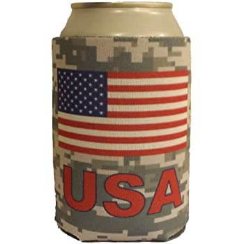 Image result for promotional american flag can koozies