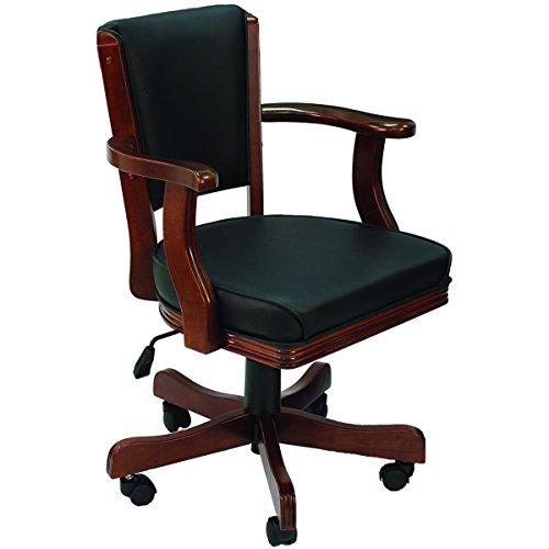 (Cushioned Game Table Arm Chair Finish: English Tudor)
