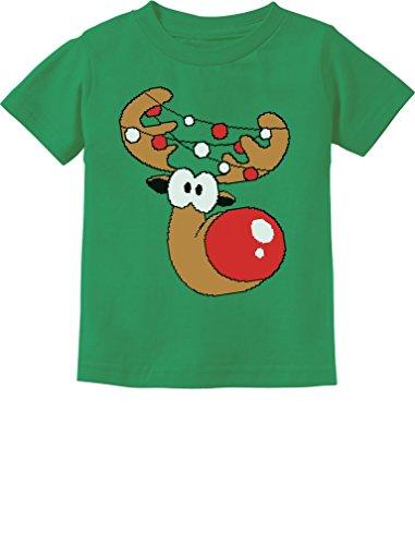 Cute Reindeer Boy/Girl Christmas Toddler/Infant Kids T-Shirt 3T Green ()