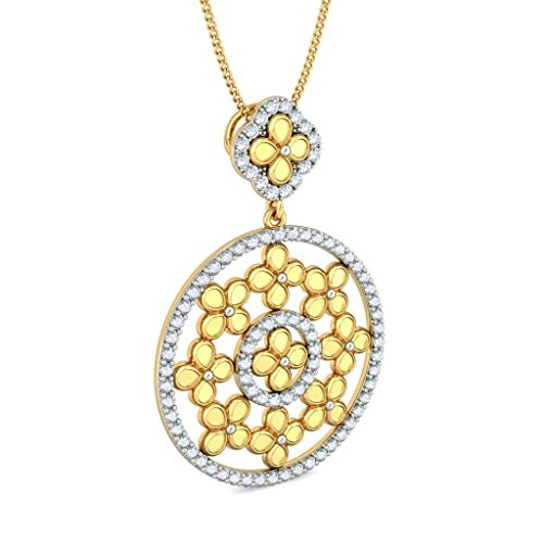Or jaune 18 K 1.46 CT TW Round-cut-diamond (IJ | SI) Pendentif