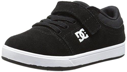 DC Crisis Skate Shoe (Toddler),Black/Black/White,9 M US Toddler