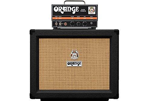 Orange Micro Dark Terror Hybrid Amp Head Mini Stack Combo w/ Cabinet and Speaker Cable, Black ()