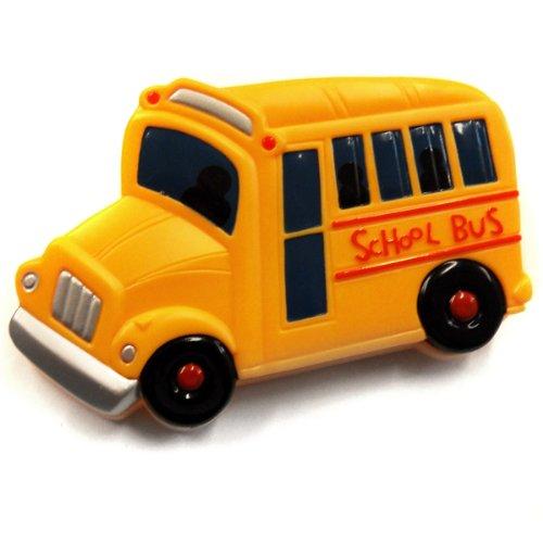 (ACME Refrigerator Magnetic Clip Yellow School Bus )