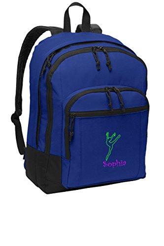 Dance 2 Personalized School Sport Backpack (Twilight Blue)