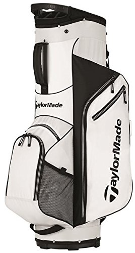 TaylorMade 2017 Golf Bag TM Cart Bag 5.0 WhtBlk, White/Black