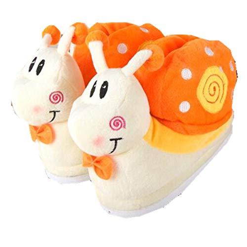 de Mignons d'hiver Orange Buttercup Chaudes Pantoufles Pantoufles de antidérapantes Coton Ifdq8