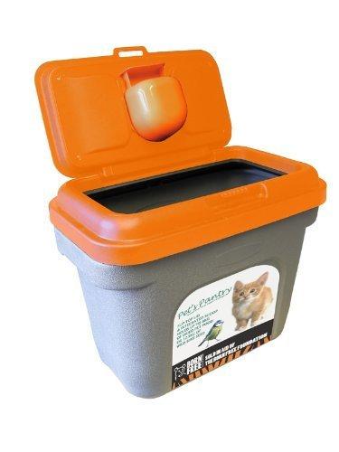 Beautiful PET FOOD STORAGE CONTAINER HOLDS 12.5 KG AIRTIGHT. KOI CARP FISH FOOD CAT  DOG
