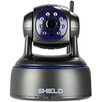 SHIELDeye HD Surveillance Security Camera, 1080P WiFi & Wireless IP Camera, Night Vision, Pan & Tilt, 2 Way Audio and Remove Viewing for Pet / Baby / Elder / Nanny Monitors, Free App download-Black