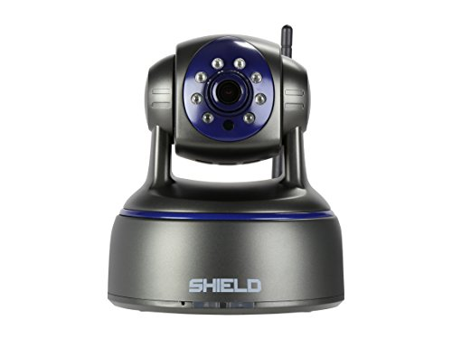 SHIELDeye HD Surveillance Security Camera, 1080P WiFi & Wireless IP Camera, Night Vision, Pan & Tilt, 2 Way Audio and Remove Viewing for Pet / Baby / Elder / Nanny Monitors, Free App download-Black by SHIELDeye