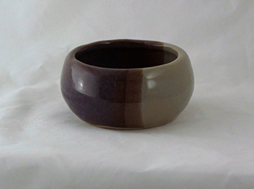 Pottery Purple And Beige Shaving Soap Bowl  Handmade In The Usa  Beautiful Gift