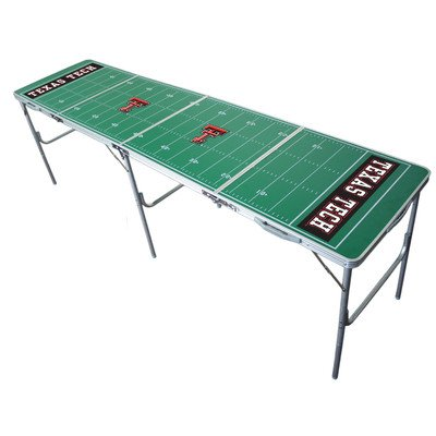 NCAA 2' x 8' Tailgate Table NCAA Team: Texas (Tech Tailgate Pong Table)