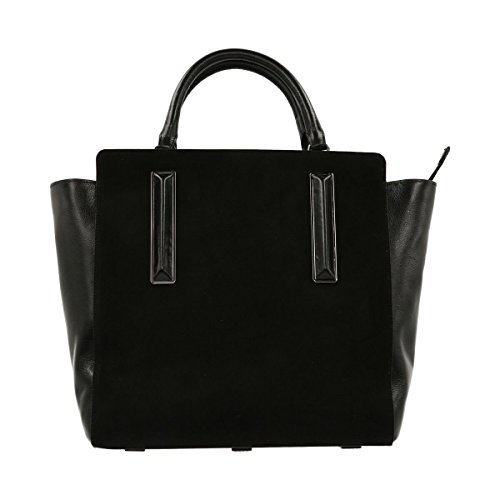 Satchel MH2330M3 Handbags Womens Halston Heritage BLACK qfatpE