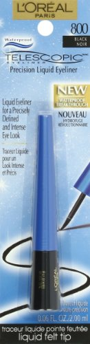 L'Oréal Paris Telescopic Precision Liquid Waterproof Eyeliner, Black