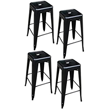AmeriHome Metal Bar Stool Set 30-Inch Black Set of 4  sc 1 st  Amazon.com & Amazon.com: AmeriHome Metal Bar Stool Set 30-Inch Black Set of ... islam-shia.org
