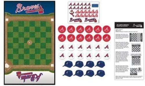 MasterPieces MLB Atlanta Braves Checkers Board Game ()