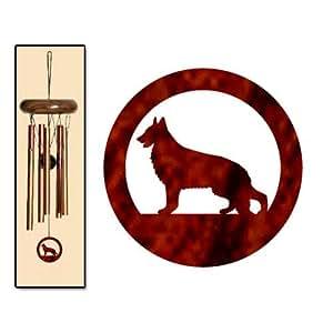 German Shepherd Dog Wind Chimes X-SMALL Bronze