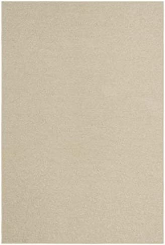 Home Queen Kids Favourite Solid Color Area Rugs Off White – 9 x12 with Non Slip Backing