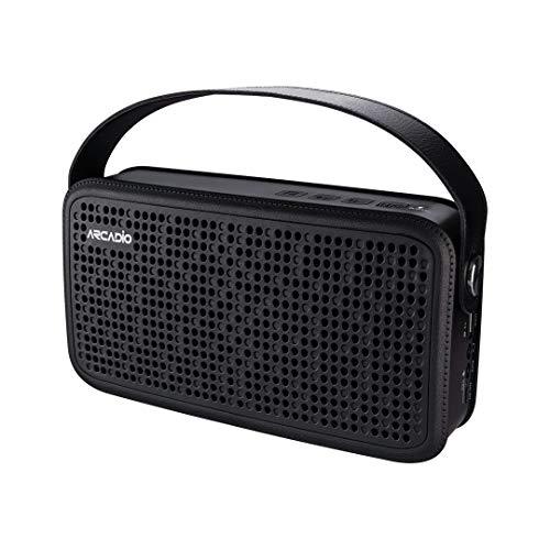 ARCADIO Thunder Portable Bluetooth Wireless Stereo Speakers for Mobile/Tablet/Laptop Speaker Black