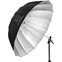 Glow Easy Lock X-Large Deep Silver Fiberglass Umbrella (65)