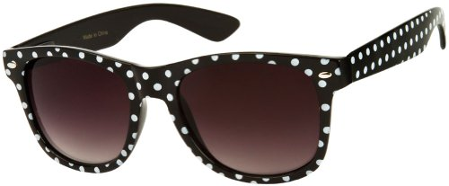 Polka Dot Cat Eye Womens Mod Fashion Super Cat Sunglasses By MJ Boutique (Classic-Black, - Sun Boutique