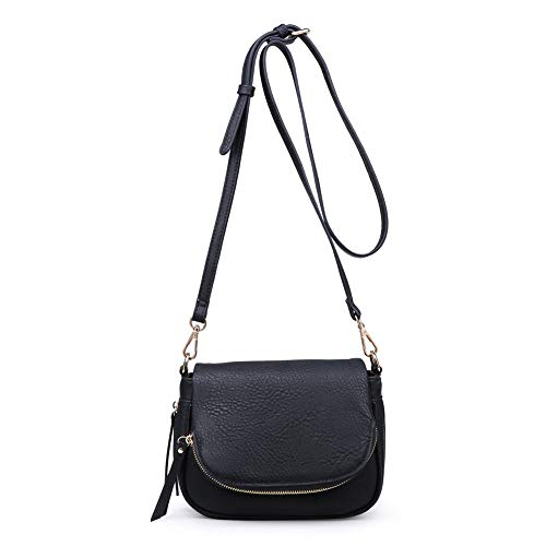Colors Assorted Women's Black Crossbody Stylish Handbag Diva Luxe Moda OYwCq0x