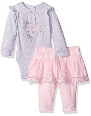 Baby Girls' Solid 2 Piece Skegging Set