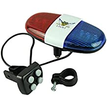 Police Car Bike Light Bell - 6 LED Light and 4 Sounds Bicycle Siren