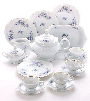 Tea With Grace Violet Fine China Tea Set for Children (Real Tea Party Set For Girls)