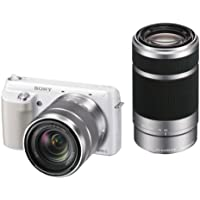 Sony Digital SLR Camera NEX-F3 Double Lens White Sony NEX-F3 NEX-F3Y-W