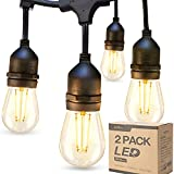 addlon 2 Pack 48ft LED Outdoor String Lights with