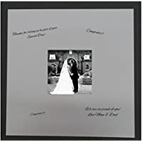 24x24 Square White Signature and Autograph Picture Mat for 8x8 Pictures. Weddings, Baby Showers, Reunions
