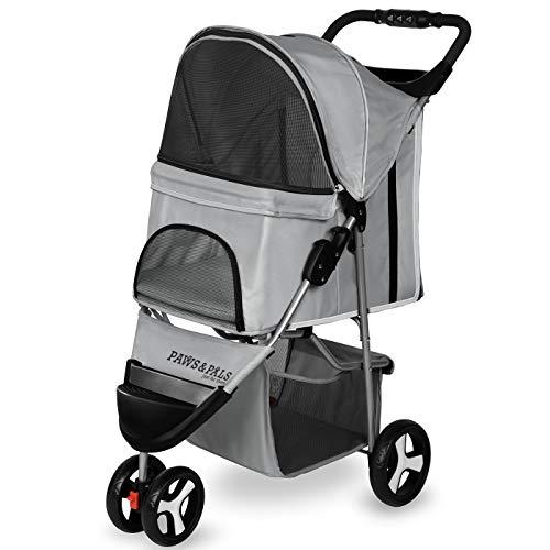 r Elite Jogger Pet Stroller Cat/Dog Easy Walk Folding Travel Carrier, Gray ()
