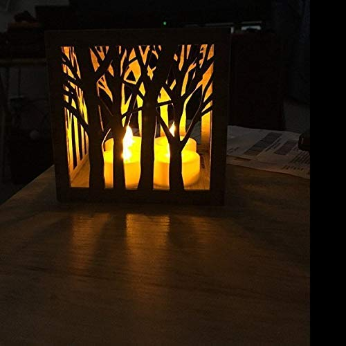 Wooden Candle Holder, Tree Tea Light Lantern, Mothers Day Gift, Housewarming Gift, Anniversary - Candle Anniversary