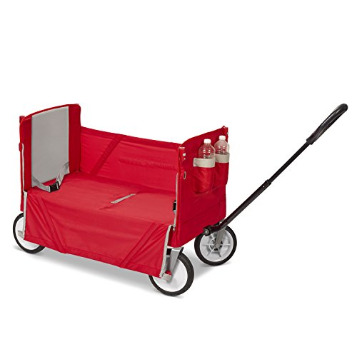 418ohj3pLyL - Radio Flyer 3-In-1 EZ Folding Wagon with Canopy for kids and cargo