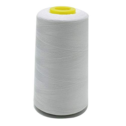 100% Polyester Sewing Thread TFO Quality 120 Count (40s/2) 5000 Yard/pc White for Sewing Machine