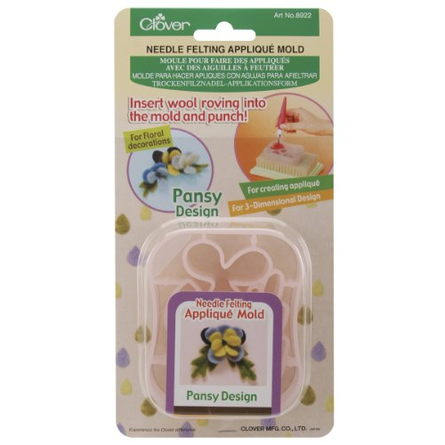 Clover Applique Mold, Pansy Design