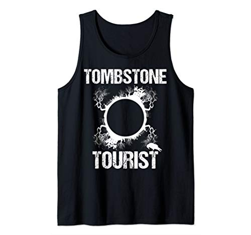 Tombstone Tourist Taphophilia Graveyard I Cemeteries Visitor Tank Top ()