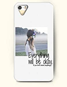 For SamSung Galaxy S6 Phone Case Cover Hard with Design Everything Will Be Okay If You Don'T Expect Anything- Spiritual Inspiration - For SamSung Galaxy S6 Phone Case Cover