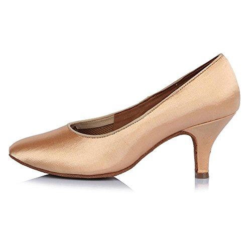 YFF Ballroon Zapatos de Baile latino para la mujer moderna de satén Bailar Salsa parte 30804