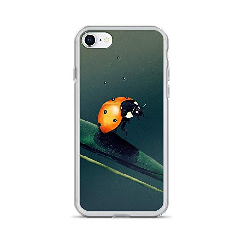 iPhone 7/8 Case Anti-Scratch Creature Animal Transparent Cases Cover Oh Bugger  Digital Art 15 Animals Fauna Crystal Clear