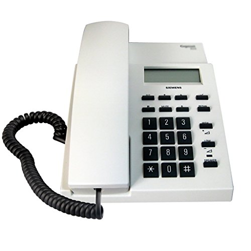 Zfusshop Fixed Telephone Phone Business Landline Household Wall Mounted Corded Telephone Office Telephone with Answer Machine Basic Calculator and Caller ID School,Home,Office (Color : White) (Retro Phone With Answer Machine)