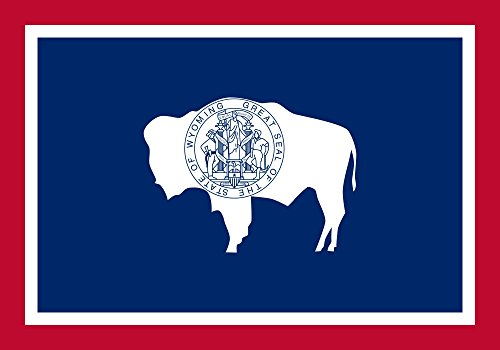 Wyoming Flag from SoCal Flags® 3x5 Foot Polyester State of Wyoming - Sold by A Proud American Company - Durable 100d Material Not See Thru Like Other Brands - High Quality Weather Resistant (Flag Wyoming State)