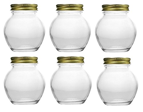Nakpunar 6 pcs, 6 oz Globe Jars with